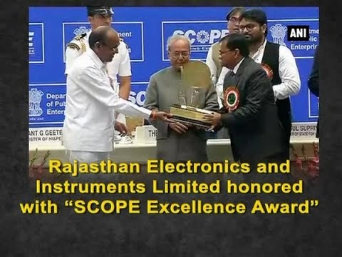 "Rajasthan Electronics and Instruments Limited honored with ""SCOPE Excellence Award"" - Rajasthan News"