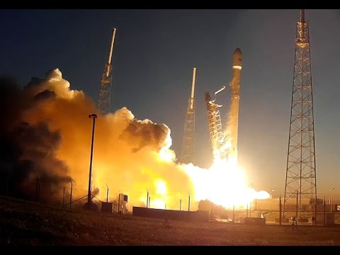 Launch Pad Camera Views Of SES-9 Launch On SpaceX Falcon 9 Rocket ...