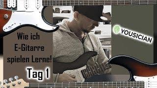 Ich lerne E-Gitarre mit Yousician Tag 1 Teil 1/2