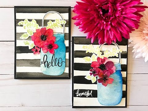 Craft Your Joy Card Tutorial: Hello Beautiful Watercolor Blooms