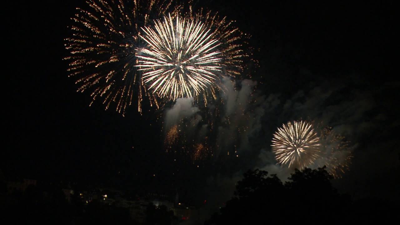 1 August 2016 Feuerwerk Basel Am Vorabend Youtube