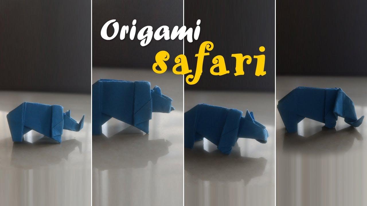 origami safari animals youtube