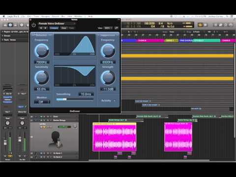 Logic Pro X - #67 - Mixing (part9): DeEsser Plug-in, Reducing Sibilance