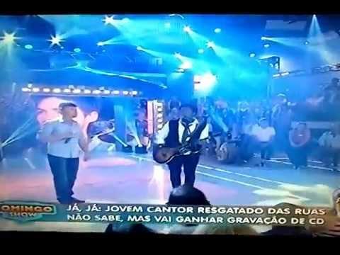 Thalles Roberto e Leandro Luz cantam Juntos no palco do Domingo Show ao vivo na Record 07-12-14