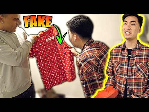 FAKE $10000 SUPREME LOUIS VUITTON PRANK ON CLOUT GANG!! (RICEGUM GETS MAD)
