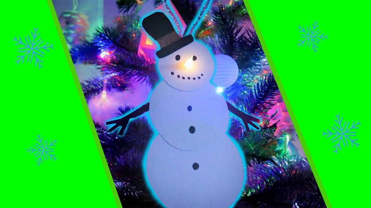 Schneemann mit Teelicht basteln | Deko für Weihnachtsbaum ...