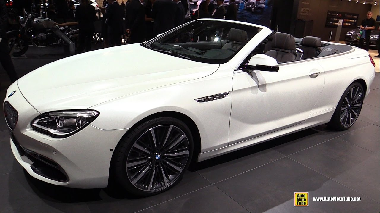 2017 Bmw 650i Convertible Exterior And Interior Walkaround 2016 Paris Auto Show You