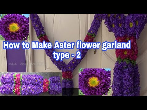 How to make Aster flower garland/wedding garland/ phool ka haar/aster phool ki mala type - 2