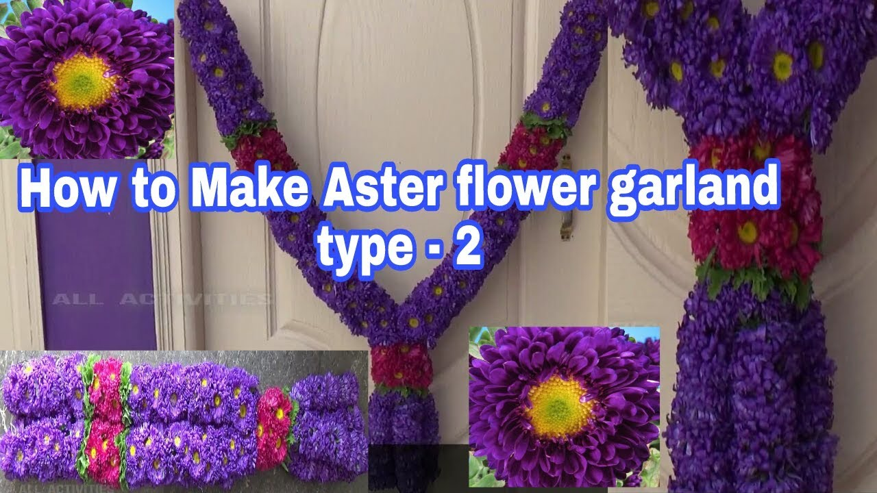 Mehndi Flower Garlands : How to make aster flower garland wedding phool ka haar
