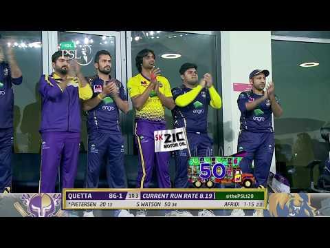 Shane Watson Batting | Quetta Gladiators Vs Karachi Kings  | Match 19 | 8 March | HBL PSL 2018