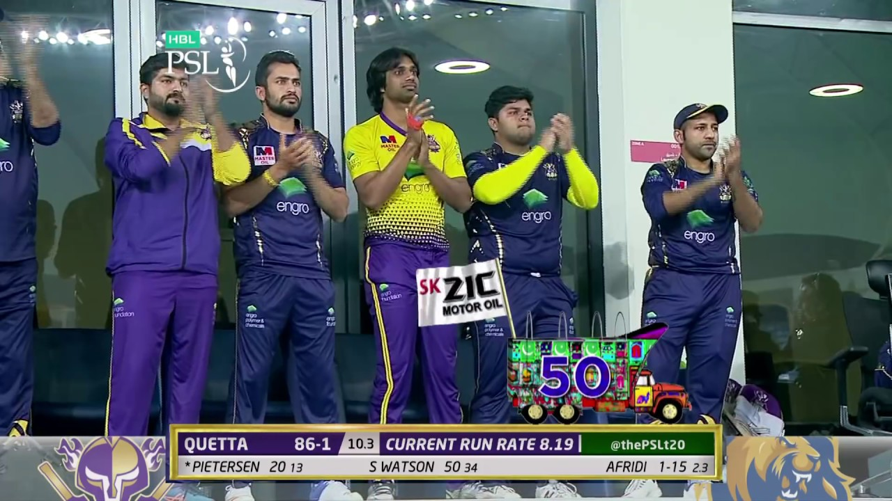 Shane Watson Batting | Quetta Gladiators Vs Karachi Kings  | Match 19 | 8 March | HBL PSL 2018