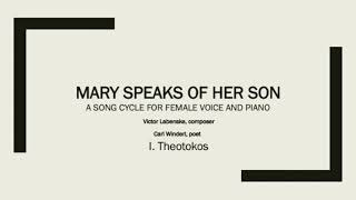 1. Theotokos from Mary Speaks of Her Son