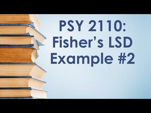 PSY 2110: Fisher's LSD, #2