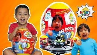 Ryan ToysReview GIANT SURPRISE EGG, RYANS WORLD TOYS GIANT MYSTERY EGG
