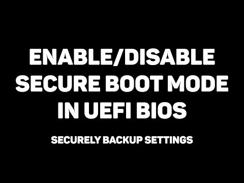 How To Enable/Disable Secure Boot In BIOS | Backup All Settings! ✔