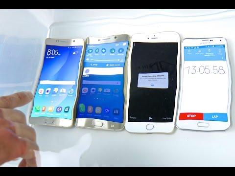 Samsung Galaxy Note 5 VS S6 Edge Plus VS iPhone 6 Plus Water Test! Waterproof?