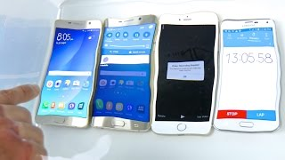 Samsung Galaxy Note 5 VS S6 Edge Plus VS iPhone 6 Plus Water Test! Waterproof?