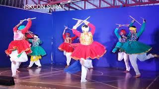 Va vaya ne vadal Umatya garba dance Performance at ISKCON Temple Surat Shri Shri Radha Damodar Mandi