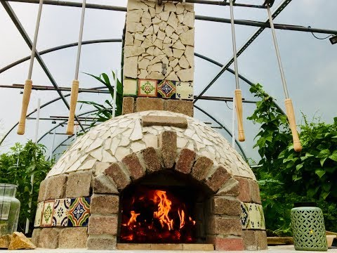 DIY Pizza Oven in the Polytunnel Build