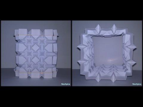 Tutorial 36 - Square and Rhombus Column Paper Folding Lamp