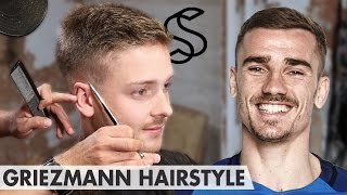 antoine griezmann hairstyle short sporty side swept men hair inspiration