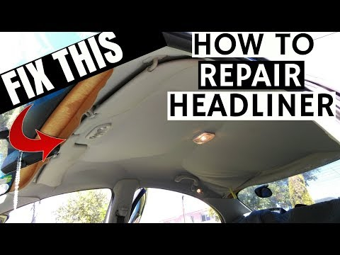 Ford Falcon AU BA BF Headliner Repair | DIY HOW TO FIX SAGGING CAR ROOF LINING