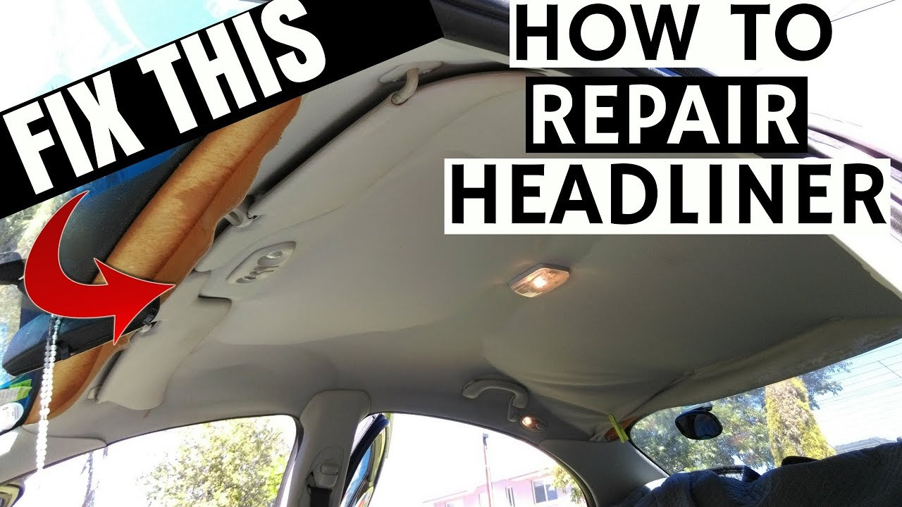 How To Fix Sagging Car Roof Interior