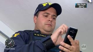 Novo sistema alerta policiais rodoviários de roubos e furtos de veículos | SBT Brasil (11/12/17)
