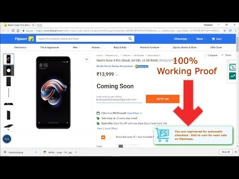 autobuy-trick-for-redmi-note-5-&-redmi-note-5-pro-with-100%-guarantee-on-flipkart-&-mi.com
