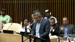 Fala de Elias Tergilene no Seminário Pobreza Urbana e Desenvolvimento no Brasil (Plenária da ONU)