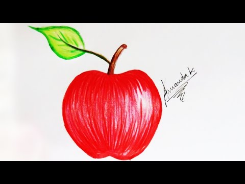 Como Desenhar Uma Maca Facil How To Draw An Easy Apple Amanda