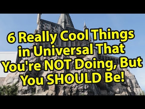 6 Really Cool Things In Universal Orlando That You're Not Doing, But You Should Be!