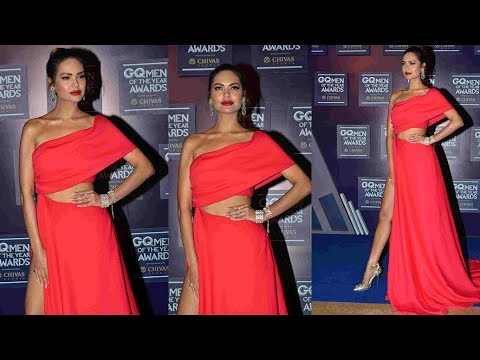 Beautiful Esha Gupta OPTS RED SLIT GOWN FOR  GQ Awards Mp3