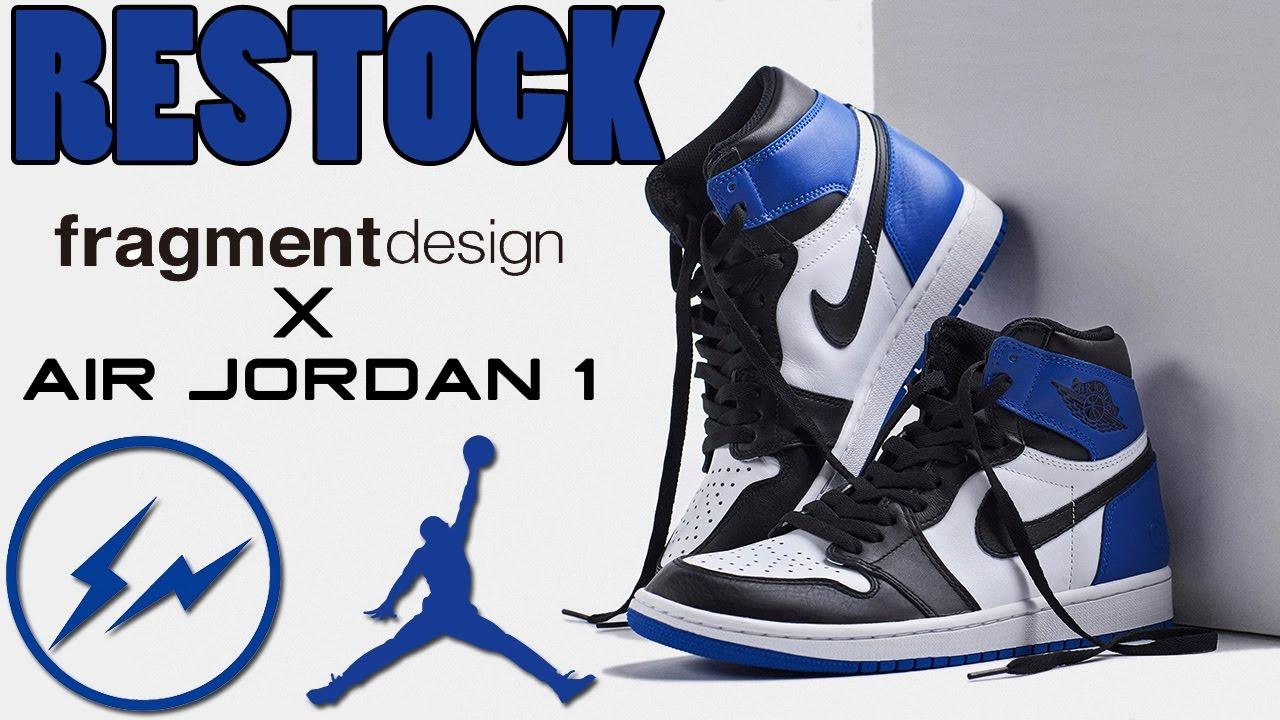 77ab70411852 RESTOCK  Fragment x Air Jordan 1 - YouTube