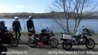 Scotland on motorbikes Hadrian Wall Glasgow Loch Ness Highlands Falkirk Wheel crash BMW R1200GS
