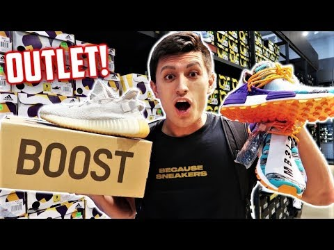 BEST ADIDAS OUTLET! YEEZYS and PHARRELL NMD FOUND!