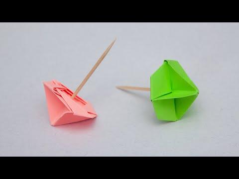 Простая Оригами Юла из бумаги | Движущиеся поделки своими руками