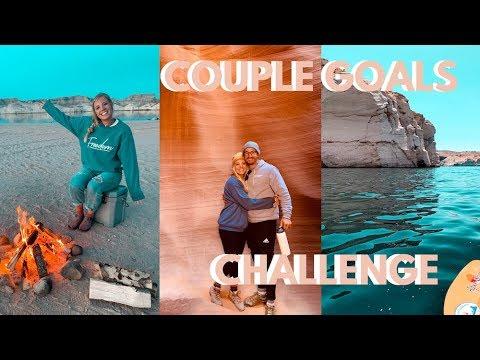 Sarah's Day- 24 Hour Couple Goals Challenge... REAL LIFE I Hiking, Kayaking, Camping Lake Powell