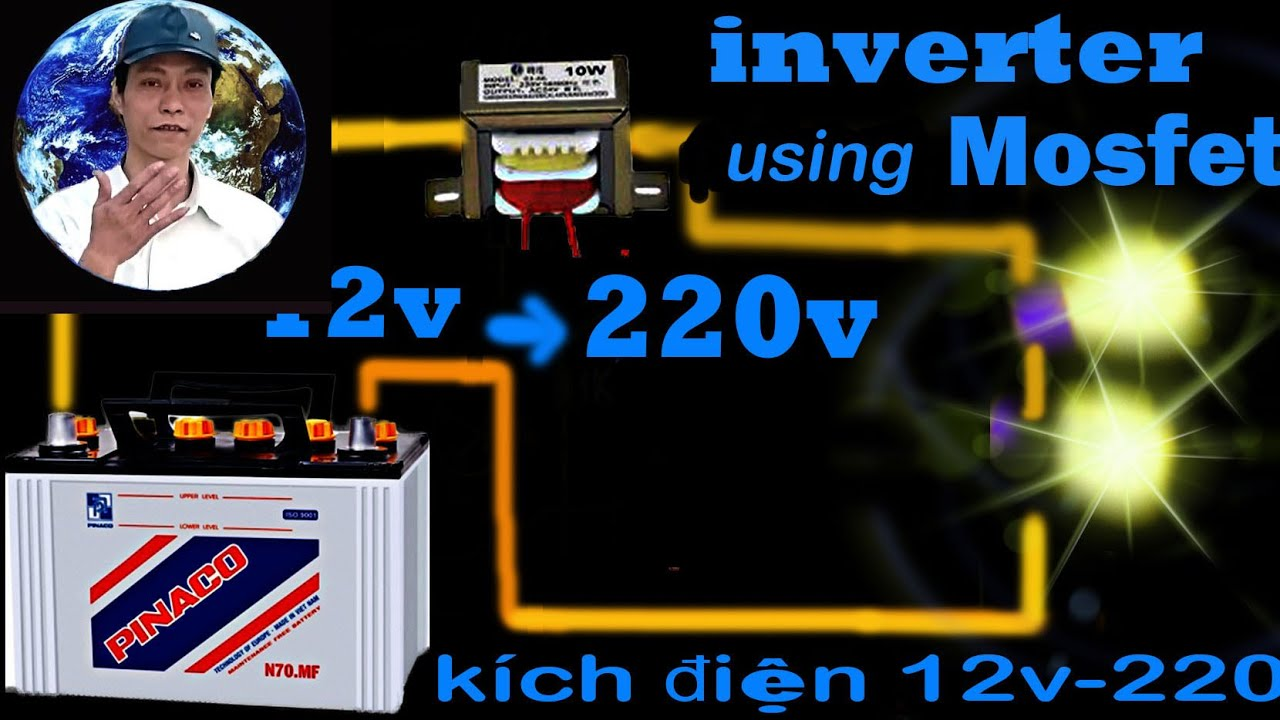 Inverter 12v Battery To 220v Ac Using Mosfet