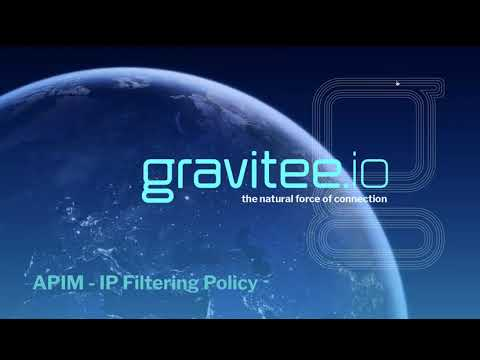 Gravitee.io - Policies - IP Filtering Policy