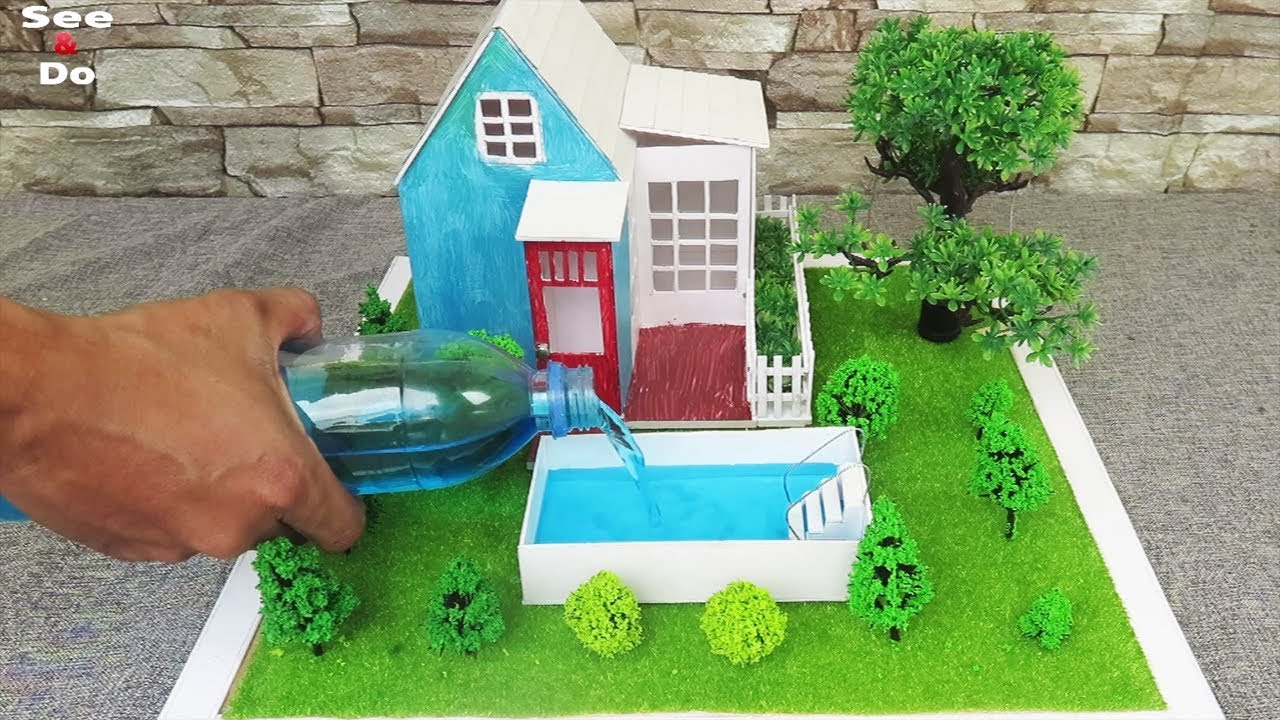How To Make A Cute House Pool Fairy Garden