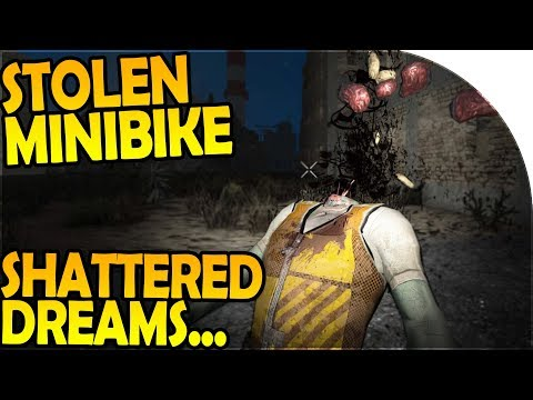 MINIBIKE STOLEN + SHATTERED DREAMS - 7 Days to Die Alpha 16 Gameplay Part 32 (Season 2)