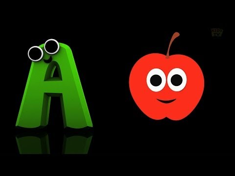 Phonics Letter- A song Kids Tv Nursery Rhymes S01EP72