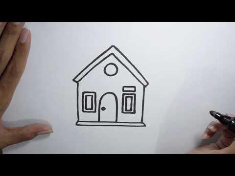 Wn Cara Menggambar Rumah Untuk Anak Sekolah Dasar