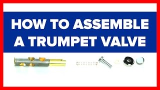 How to Assemble the Pieces of a Trumpet Valve / Fix a Wobbly Disconnected Valve Stem
