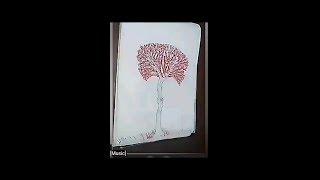 كيف ترسم شجرة بخطوات بسيطة للمبتدئين how to drawing  tree