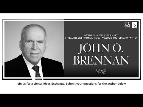 Former CIA director John Brennan in conversation with L.A. Times White House reporter Eli Stokols