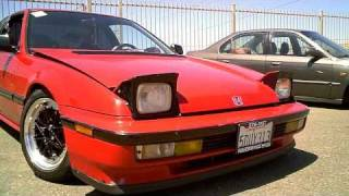 1991 Honda Prelude Si with a stock B21A1 and 4 wheel steering