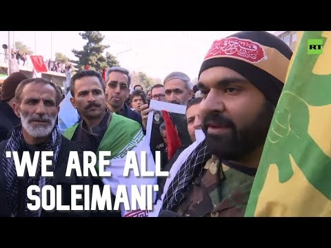 'We are all Soleimani': Thousands attend the funeral procession in Tehran
