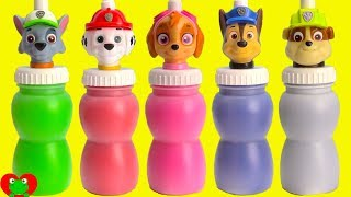 Preschool Learning Video with Paw Patrol Slime Surprises Rescue and Paints